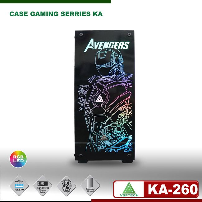 Case gaming VSPTECH KING ARMS KA-260